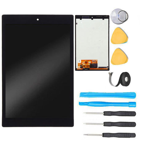 Amazon Kindle Fire HD 8 (6th Gen) LCD Screen Replacement and Digitizer Premium Repair Kit - Black