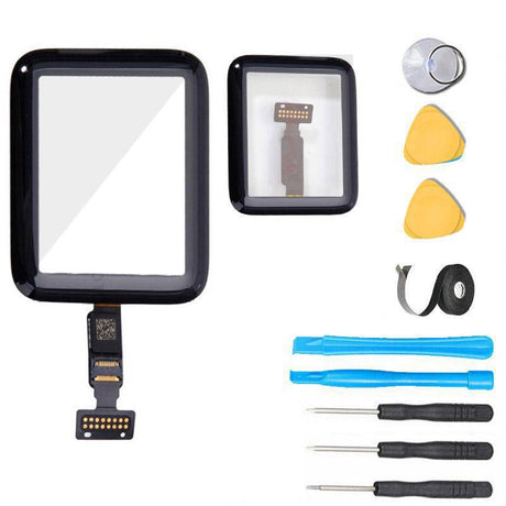 Apple Watch SERIES 2 (38 mm) Glass Screen Replacement + Touch Digitizer Premium Repair Kit 2nd Gen - Black