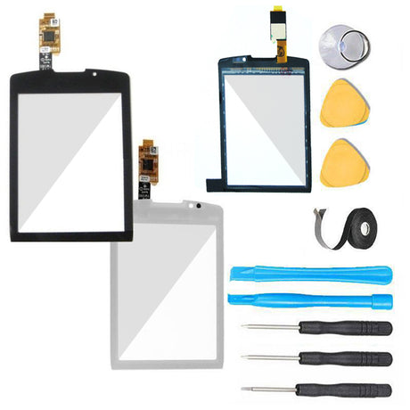 Blackberry Torch Glass Screen + Touch Digitizer Replacement Premium Repair Kit - Black or White