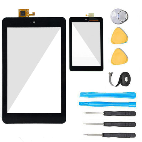 Dell Venue 7 Tablet Glass Screen + Touch Digitizer Replacement Premium Repair Kit 3730 - Black