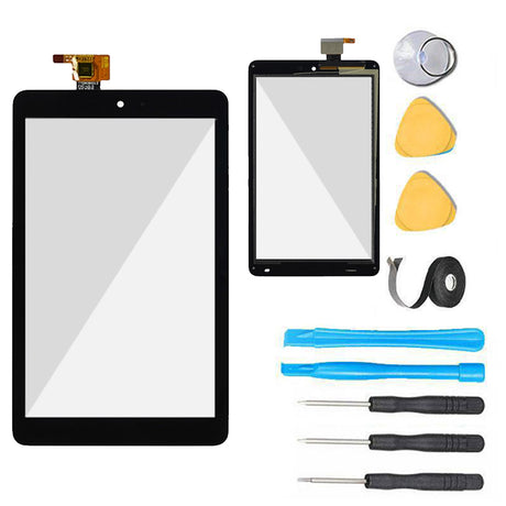 Dell Venue 8 Tablet Glass Screen + Touch Digitizer Replacement Premium Repair Kit 3830 - Black