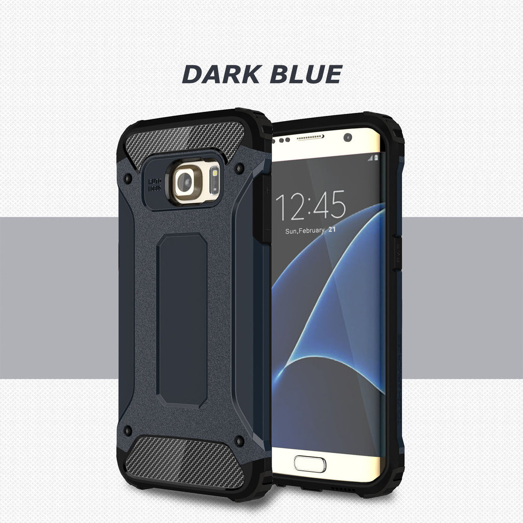 Rugged Armor Protective Hard Case Cover - Galaxy S6 Edge