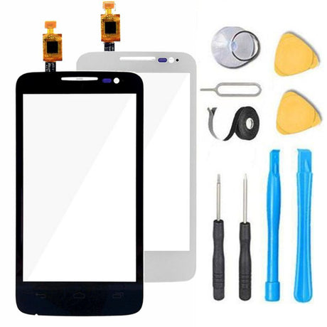 Alcatel One Touch Evolve 2 Glass Screen Replacement + Touch Digitizer Premium Repair Kit 4037A 4037T - Black or White