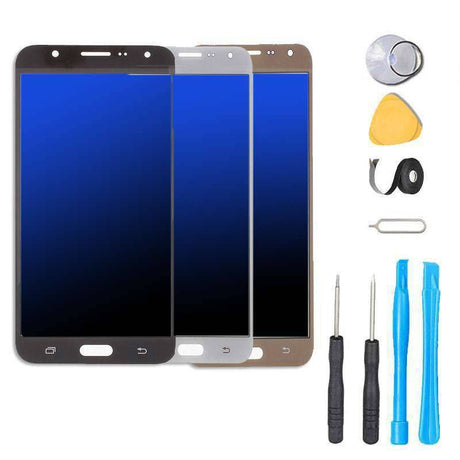 Samsung Galaxy J7 J700 Screen Replacement and Digitizer Premium Repair Kit 2015 Black White Gold