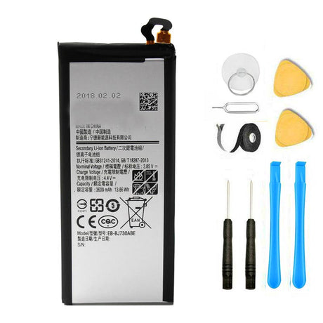 Samsung Galaxy J7 Pro Battery Replacement Premium Repair Kit + Tools EB-BJ730ABE