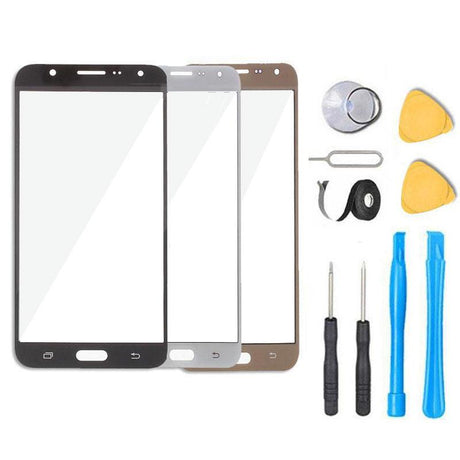 Samsung Galaxy J7 J700 Glass Screen Replacement Premium Repair Kit - Black Gold White