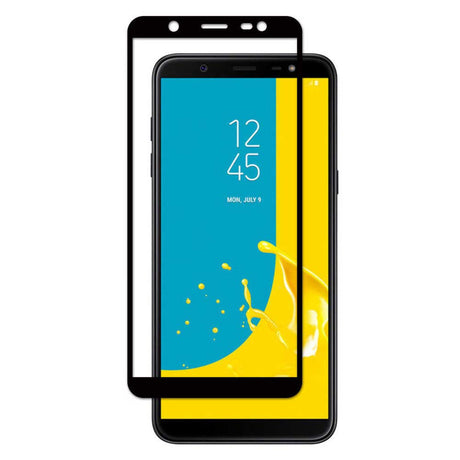 Samsung Galaxy J8 Tempered Glass Screen Protector - Black