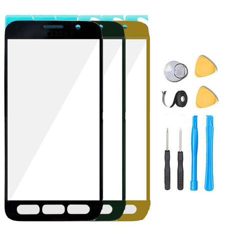 Samsung Galaxy S7 Active Glass Screen Replacement Premium Repair Kit - Black, Green, Gold