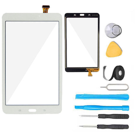 Samsung Galaxy Tab E 8..0 Screen Replacement Glass + Touch Digitizer Repair Kit T377 T378 - White
