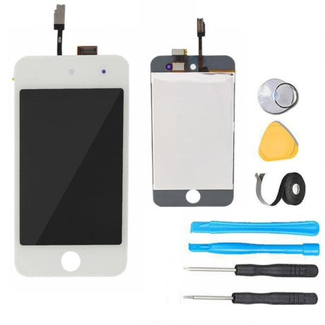 iPod Touch 4 Glass Screen Digitizer Replacement Premium Repair Kit - White
