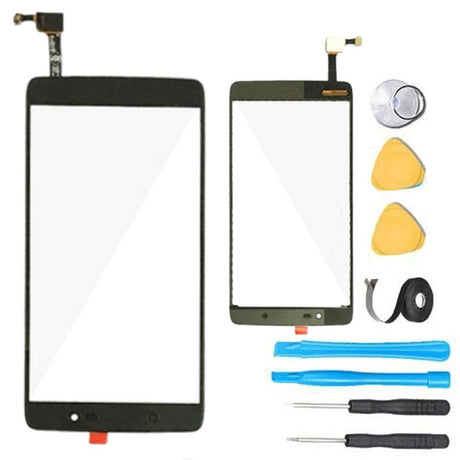 Alcatel One Touch Idol 4 Glass Screen Replacement + Touch Digitizer Premium Repair Kit 6055 6055B 6055H 6055Y 6055U - Black