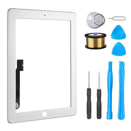 iPad 3 Glass Screen Digitizer Replacement Premium Repair Kit - White