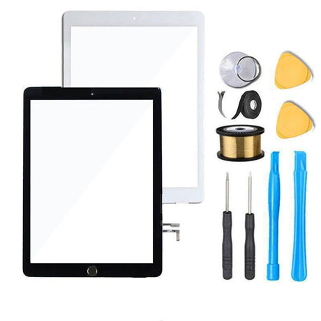 iPad 5 2017 Screen Replacement Glass + Touch Digitizer Premium Repair Kit - Black or White