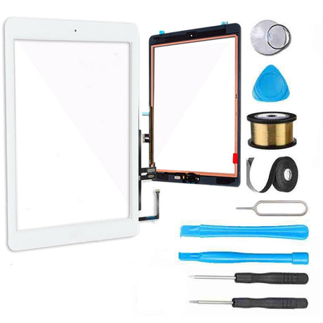 iPad 6 (2018) Screen Replacement Glass + Touch Digitizer Premium Repair Kit 6th Gen A1893 | A1954 - White