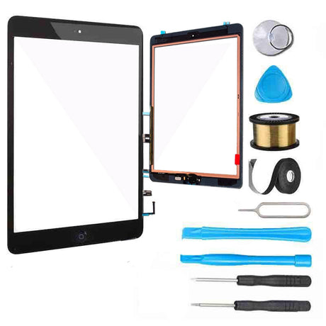iPad 6 (2018) Screen Replacement Glass + Touch Digitizer Premium Repair Kit 6th Gen A1893 | A1954 - Black