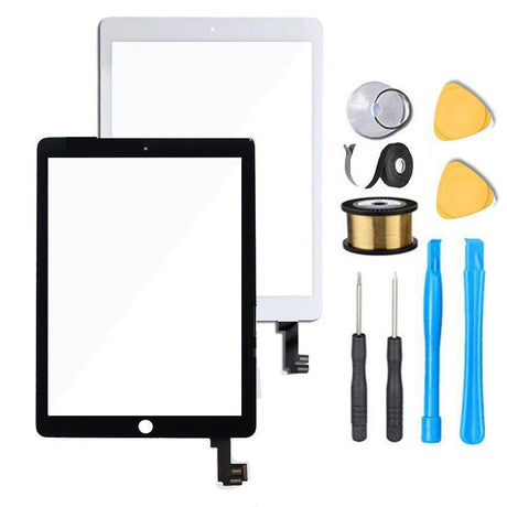 iPad Air 2 Screen Replacement Glass +Touch Digitizer Premium Repair Kit - Black or White