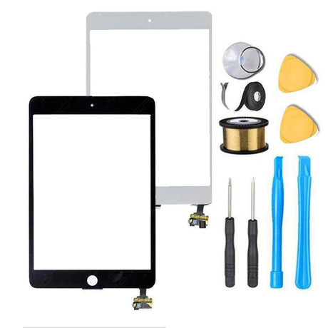 iPad Mini 1 & 2 Glass Screen Replacement + Touch Digitizer Premium Repair Kit - Black or White