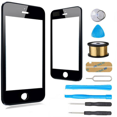 iPhone 5s 5c 5 Glass Screen Replacement Premium Repair Kit - Black