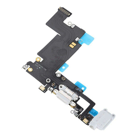 iPhone 6 Plus Charging Port Replacement and Headphone Jack Mic Flex Cable - White
