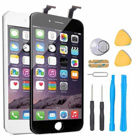 iPhone 6 Plus Screen Replacement + LCD + Touch Digitizer Display Premium Repair Kit  - Black or White