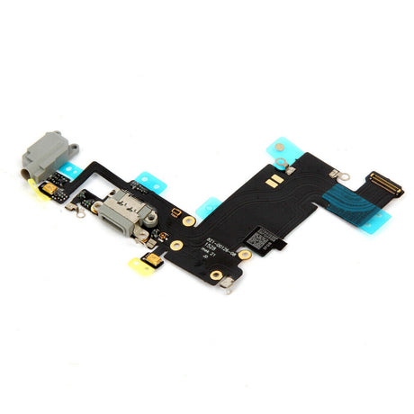 iPhone 6 Plus Charging Port Replacement and Headphone Jack Mic Flex Cable - Black Gray
