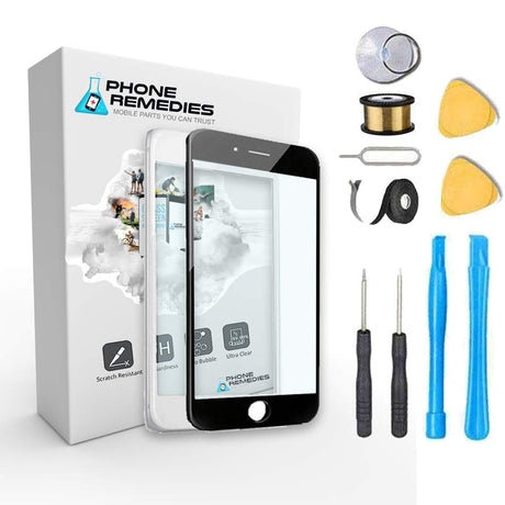 iPhone 7 Plus Glass Screen Replacement Premium Repair Kit - Black or White