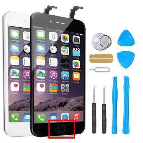 iPhone 7 Plus Screen Replacement +LCD + Digitizer + Home Button + Small Parts Repair Kit - Black or White