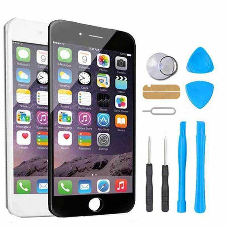 iPhone 8 Plus Screen Replacement + LCD + Digitizer Display Premium Repair Kit - Black or White