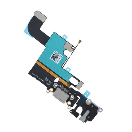 iPhone 6s Charging Port Replacement and Headphone Jack Mic Flex Cable - Black Gray