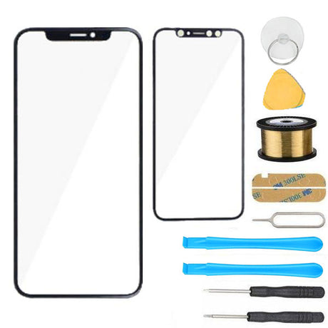 iPhone XS Glass Screen Replacement Premium Repair Kit - Black