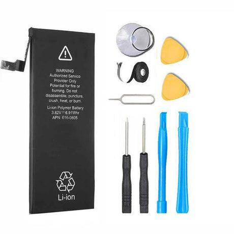 iPhone 5 1440 mAh Internal Battery Replacement Premium Repair Kit - Black