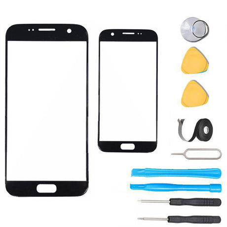 Samsung Galaxy S7 Glass Screen Replacement Premium Repair Kit - Black