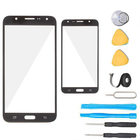 Samsung Galaxy J7 J700 Glass Screen Replacement Premium Repair Kit 2015- Black