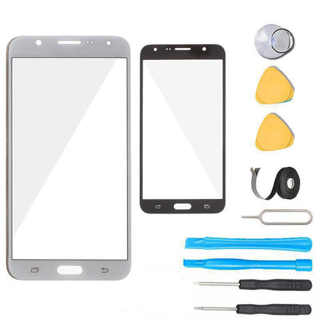 Samsung Galaxy J7 J700 Glass Screen Replacement Premium Repair Kit 2015- White