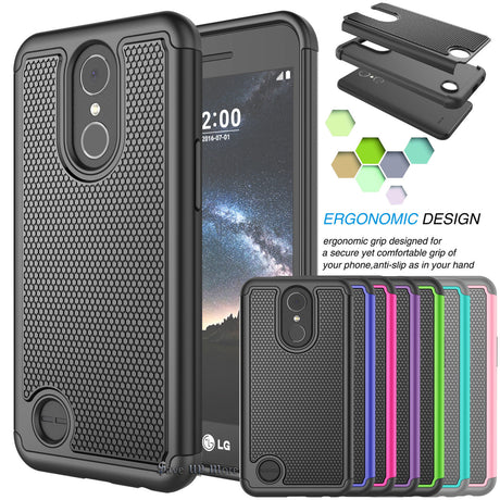 LG Stylo 4 Rugged Armor Hard Case Cover