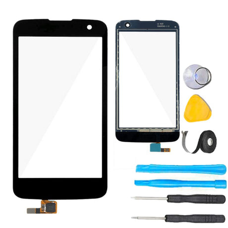 LG K4 Glass Screen Replacement + Touch Digitizer Premium Repair Kit 2016  - Black
