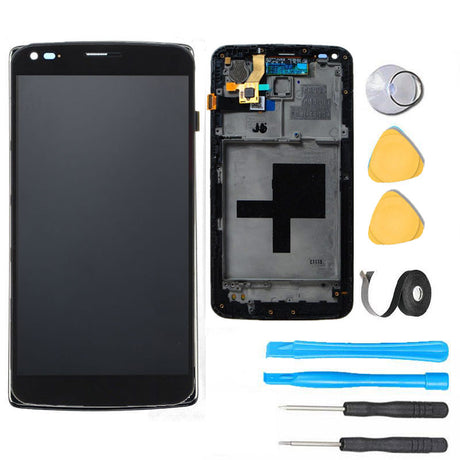LG Flex Screen Replacement + LCD + Frame + Digitizer Premium Repair Kit - Black
