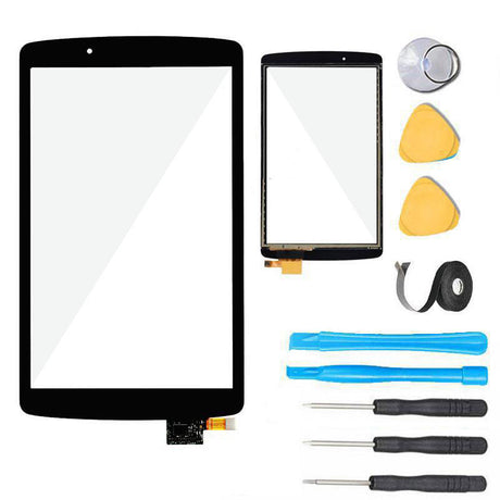 LG G Pad F 8.0 Screen Replacement Glass +Touch Digitizer Premium Repair Kit V495 V496 UK495- Black