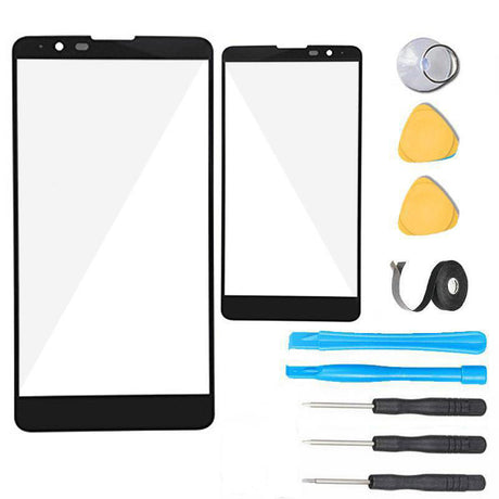"LG G Stylo 2 Plus Glass Screen Replacement Premium Repair Kit 5.7"" K550 K530 MS550 - Black"