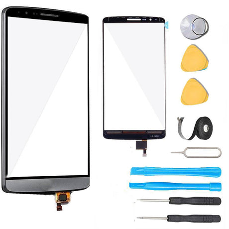 LG G3 Glass Screen Digitizer Replacement Premium Repair Kit - Black