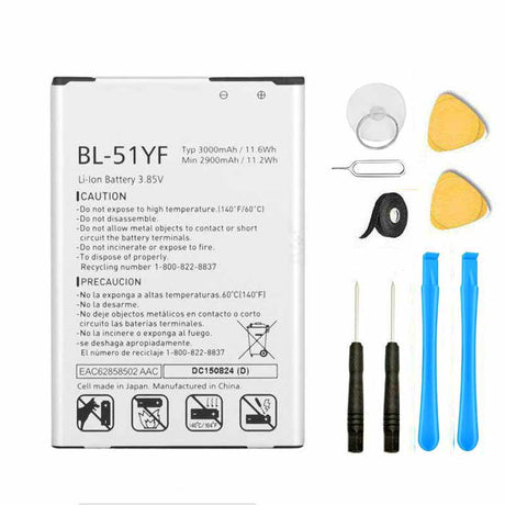 LG G4 Battery Replacement Premium Repair Kit + Tools BL-51Y Vista