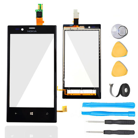 Nokia Lumia 720 Glass Screen + Touch Digitizer Replacement Premium Repair Kit T720 N720
