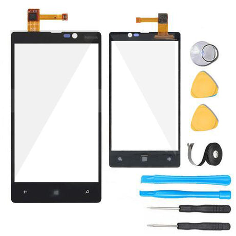 Nokia Lumia 820 Glass Screen +Touch Digitizer Replacement Premium Repair Kit- Black