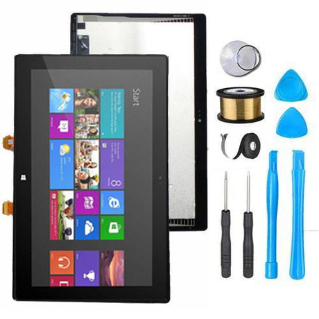 "Microsoft Surface Pro 1 Screen Replacement LCD Digitizer Premium Repair Kit 1st Gen 1514 10.6"" - Black"