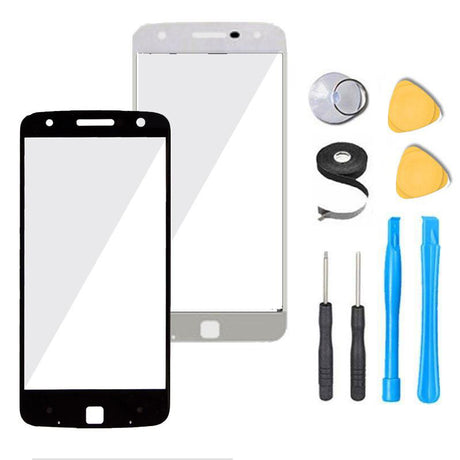 Motorola Moto Z Droid Glass Screen Replacement Premium Repair Kit XT1650-01 | XT1650-03  - Black / White