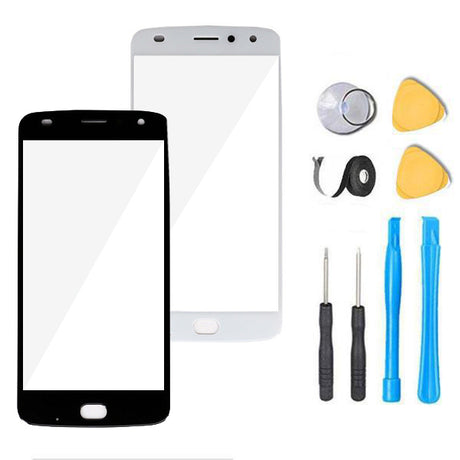 Motorola Moto Z2 Play Droid Glass Screen Replacement Premium Repair Kit XT1710   - Black / White