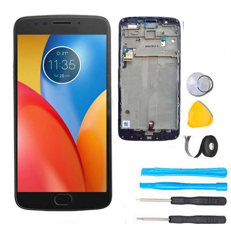Moto E4 Plus Screen Replacement LCD with FRAME Repair Kit E 4th XT1774 XT1775 XT1776 - Black