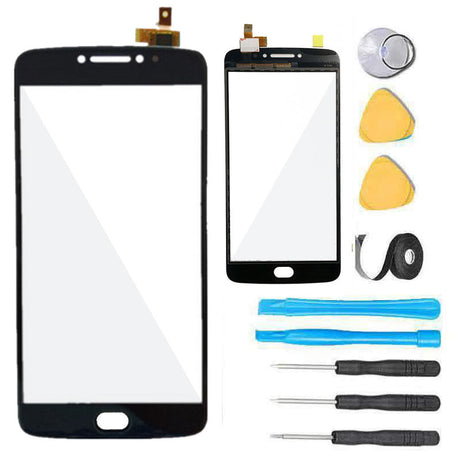 Moto E4 Plus Glass Screen Replacement Repair Kit Motorola E 4th Gen XT1774 XT1775 XT1776 - Black