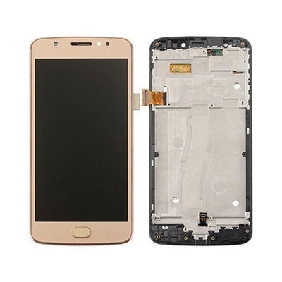 Moto E4 Plus Screen Replacement LCD with FRAME Repair Kit E 4th XT1774 XT1775 XT1776 - Black or Gold