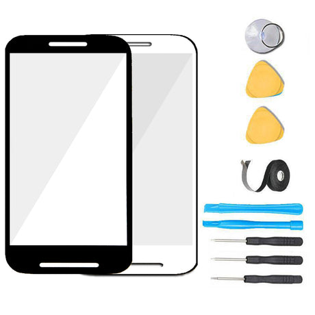 Moto E (1st Gen) Glass Screen Replacement parts plus tools